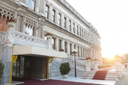 Entry of the Ciragan Palace, an old Ottoman royal palace by the Bosporus, Istanbul, Turkey