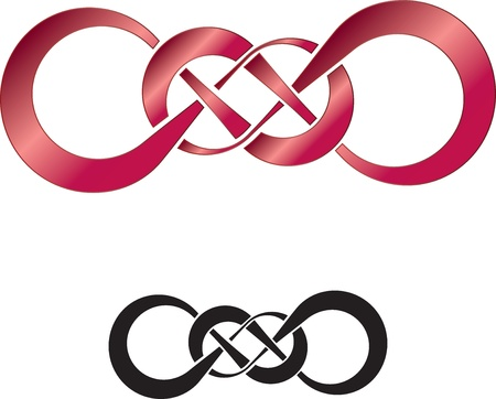 signo infinito: Resumen de dise�o de doble infinito, perfecto como un tatuaje Vectores