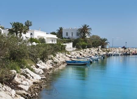 marsa: Seaside view from Tunis, Tunisia Editorial
