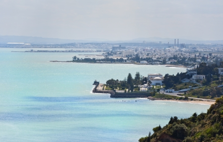 View of Tunis from Sidi Bou Said photo