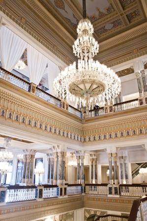 Grand chandelier inside palace