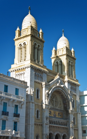 St  Vincent de Paul Cathedral in Tunis city center, Tunisia Stock Photo - 18658550
