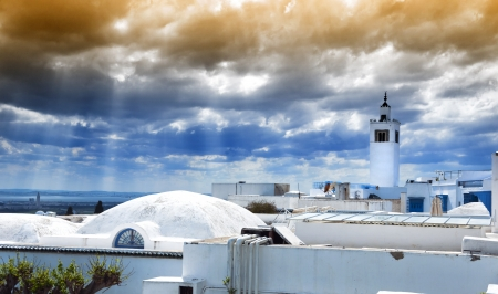 Beautiful view from Tunis, Tunisia photo