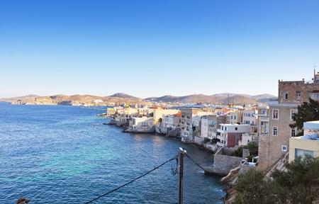 greek pot: Isola di Syros, Grecia
