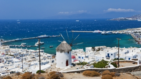 naxos: Mykonos, Cyclades Islands, Greece Stock Photo