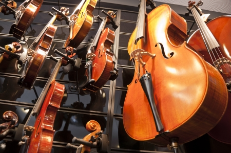 Violins and cellos Stock Photo - 18813128