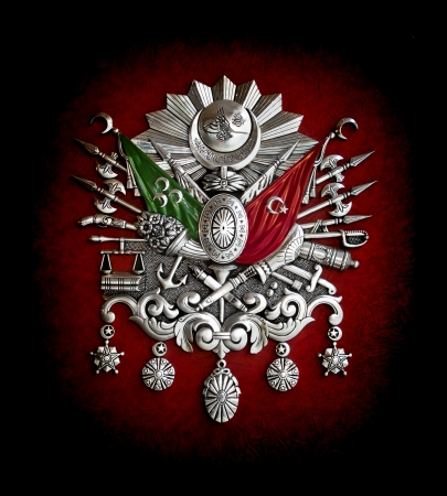 sultan: Ottoman Empire coat-of-arms symbol Stock Photo