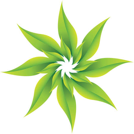 Whirling green leaves, fresh environmental concept Stock Photo - 19234946