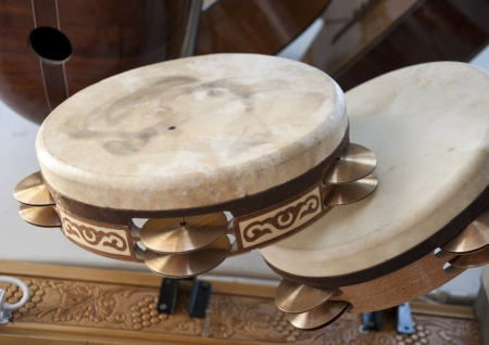 Turkish percussion instrument named def or tef Stock Photo