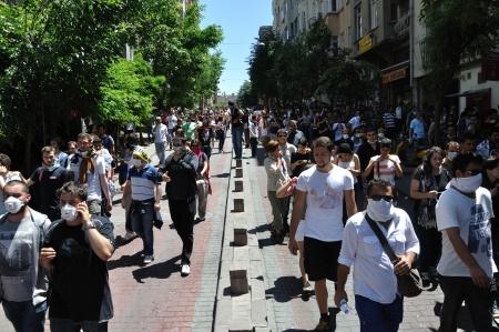 ISTANBUL, TURKEY - JUNE 1: Gezi Park Public Protest against the government Stock Photo - 20120342