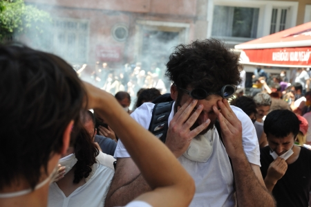 anti war: ISTANBUL, TURKEY - JUNE 1: Gezi Park Public Protest against the government