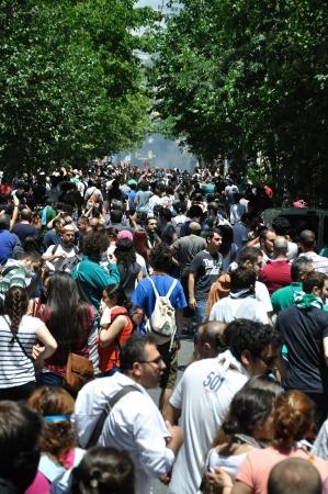 ISTANBUL, TURKEY - JUNE 1: Gezi Park Public Protest against the government Stock Photo - 20120390