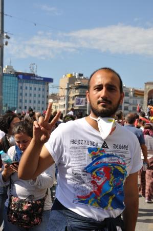 vandal: ISTANBUL, TURKEY - JUNE 1: Gezi Park Public Protest against the government