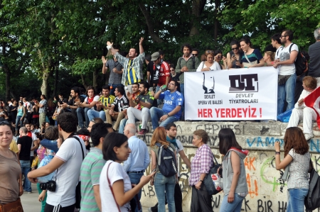 provocative food: ISTANBUL, TURKEY - JUNE 1: Gezi Park Public Protest against the government