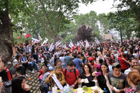 sedition: ISTANBUL, TURKEY - JUNE 1: Gezi Park Public Protest against the government