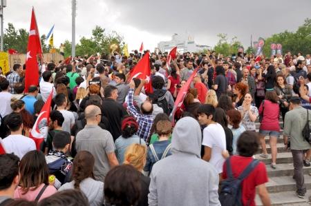 noncompliance: ISTANBUL, TURKEY - JUNE 1: Gezi Park Public Protest against the government