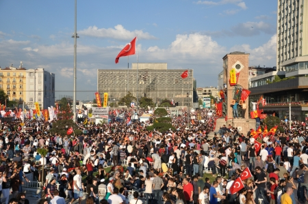 disobedience: ISTANBUL, TURKEY - JUNE 1: Gezi Park Public Protest against the government