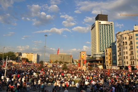 ISTANBUL, TURKEY - JUNE 1: Gezi Park Public Protest against the government Stock Photo - 20160661