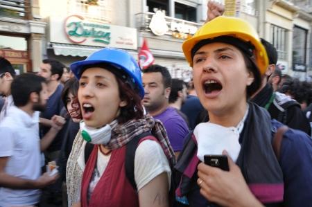 noncompliance: ISTANBUL, TURKEY - JUNE 6 2013: Gezi Park Public Protest against the government Editorial