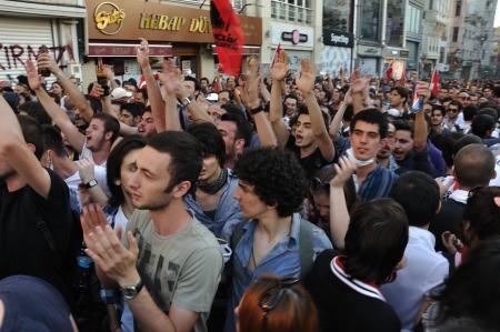 mustafa: ISTANBUL, TURKEY - JUNE 6 2013: Gezi Park Public Protest against the government Editorial