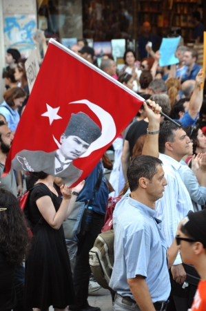 adverse reaction: ISTANBUL, TURKEY - JUNE 6 2013: Gezi Park Public Protest against the government Editorial