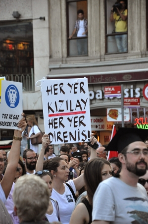 human settlement: ISTANBUL, TURKEY - JUNE 6 2013: Gezi Park Public Protest against the government Editorial