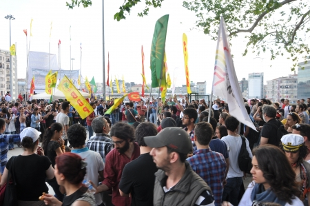 ISTANBUL, TURKEY - JUNE 6 2013: Gezi Park Public Protest against the government