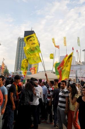 ISTANBUL, TURKEY - JUNE 6 2013: Gezi Park Public Protest against the government Editöryel