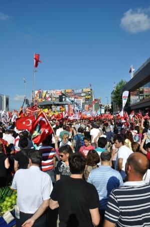 ISTANBUL, TURKEY - JUNE 9 2013: Gezi Park Public Protest against the government