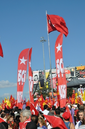 adverse reaction: ISTANBUL, TURKEY - JUNE 9 2013: Gezi Park Public Protest against the government Editorial