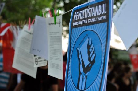 mustafa: ISTANBUL, TURKEY - JUNE 9 2013: Gezi Park Public Protest against the government Editorial