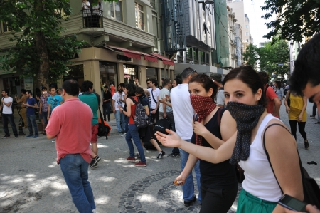 noncompliance: ISTANBUL, TURKEY - May 31 2013: Gezi Park Public Protest against the government spread to the whole country. May 31 2013, Istanbul