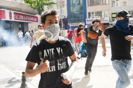 occupy movement: ISTANBUL, TURKEY - May 31 2013: Gezi Park Public Protest against the government spread to the whole country. May 31 2013, Istanbul