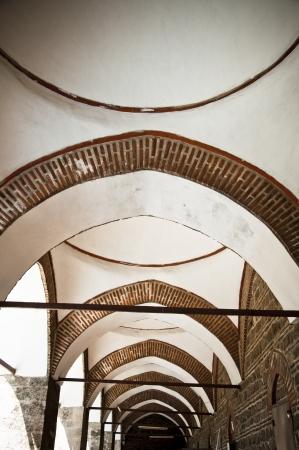 kapalicarsi: Ottoman architectural detail from an ancient passage in Bursa, Turkey