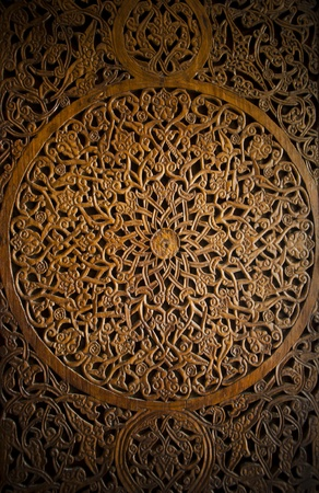 wood carving door: Ottoman-Turkish style wooden carving art background