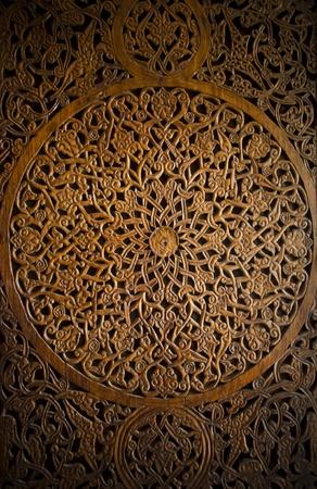 Style ottoman-turc sculpture en bois art fond