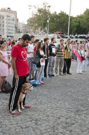 provocative food: ISTANBUL, TURKEY - June 18 2013  Standing Man protest following the Gezi Park conflicts in Istanbul  People only stand still and silently to protest the government s actions  June 18 2013, Istanbul