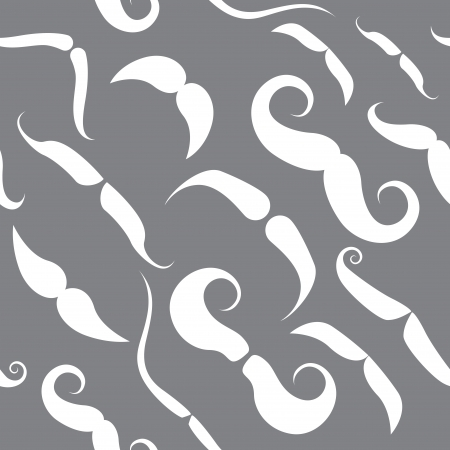 tileable: Seamless pattern with funky mustache types