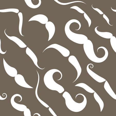Seamless pattern with funky mustache types  Vector