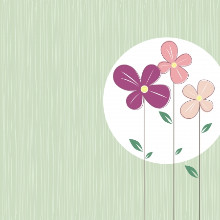 colorful flowers on elegant turquoise background Vector
