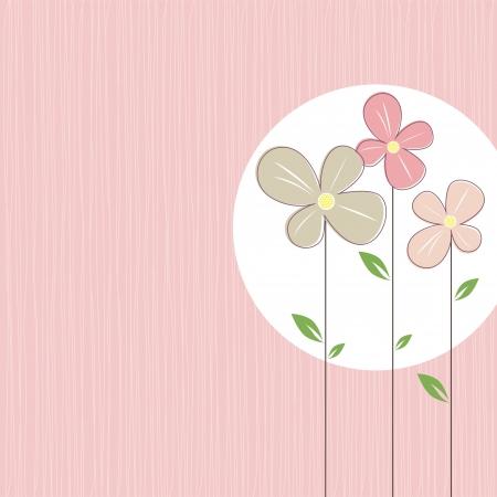decorative: fleurs colorées sur fond élégant turquoise