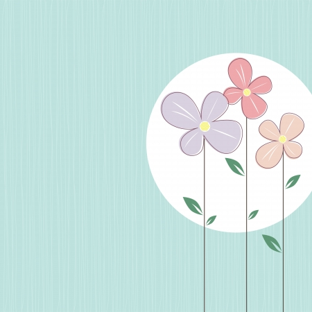 aqua flowers: colorful flowers on elegant turquoise background
