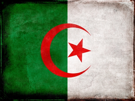 algerian flag: Grunge Algerian Flag Stock Photo