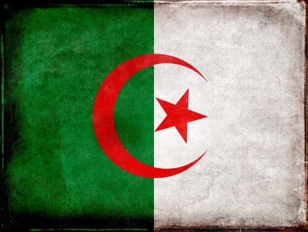 Algierski: Grunge flaga Algierii