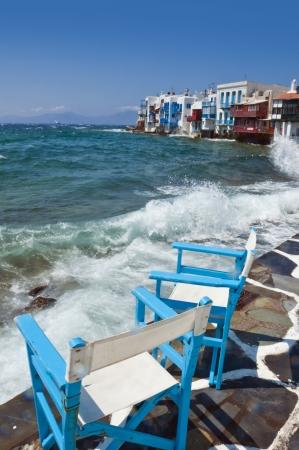 kyklades: Mykonos, Cyclades Islands, Greece Stock Photo
