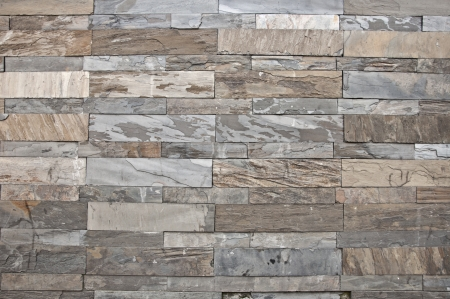 Natural stone textured wall