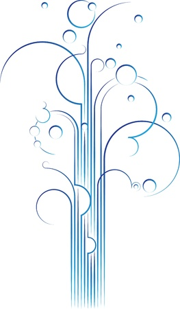 Elegant flourish gushing out, vector design element photo
