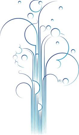 Elegant flourish gushing out, vector design element Stock Photo
