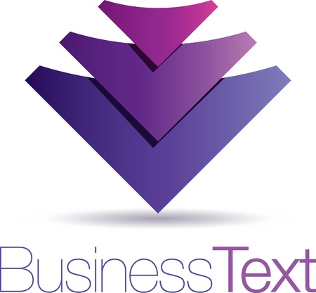 Modern purple icon with abstract rising arrows