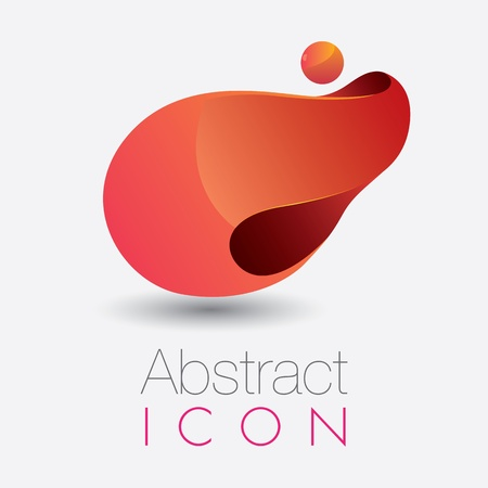 Abstract and glossy 3D looking infinity icon  Illustration
